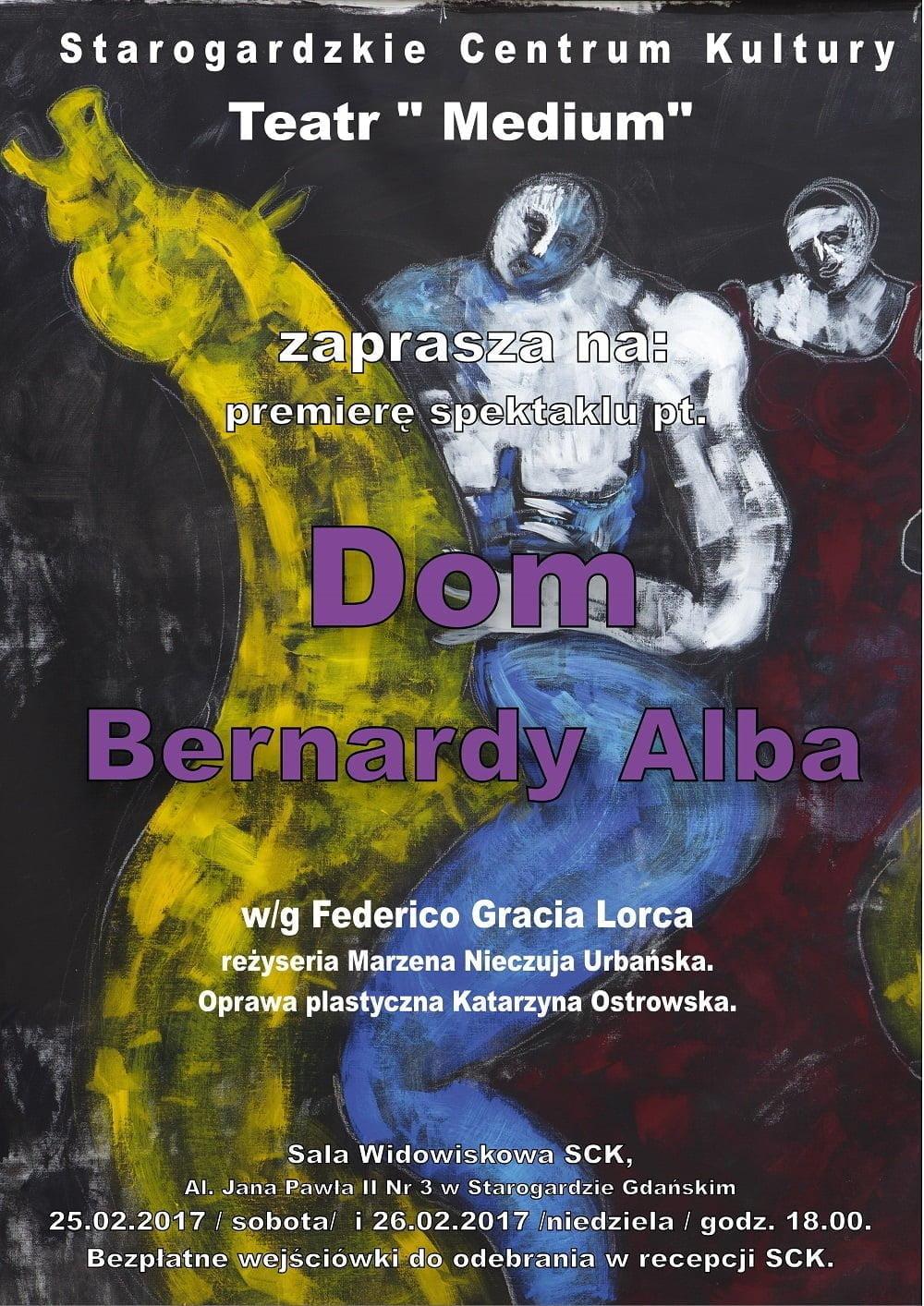 Premiera spektaklu Teatru Medium - Dom Bernardy Alba