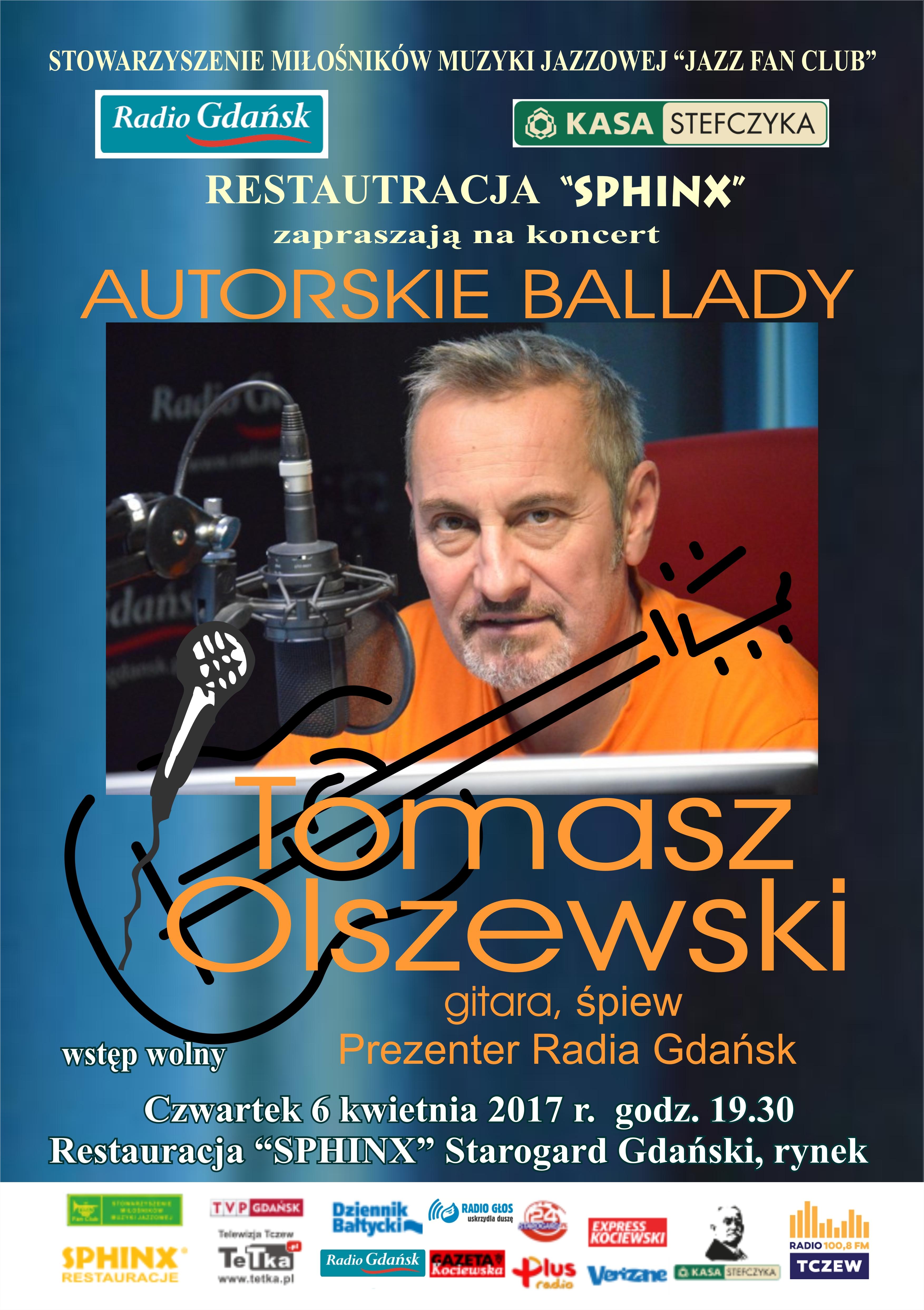 """TOMASZ OLSZEWSKI """"AUTORSKIE BALLADY"""""""