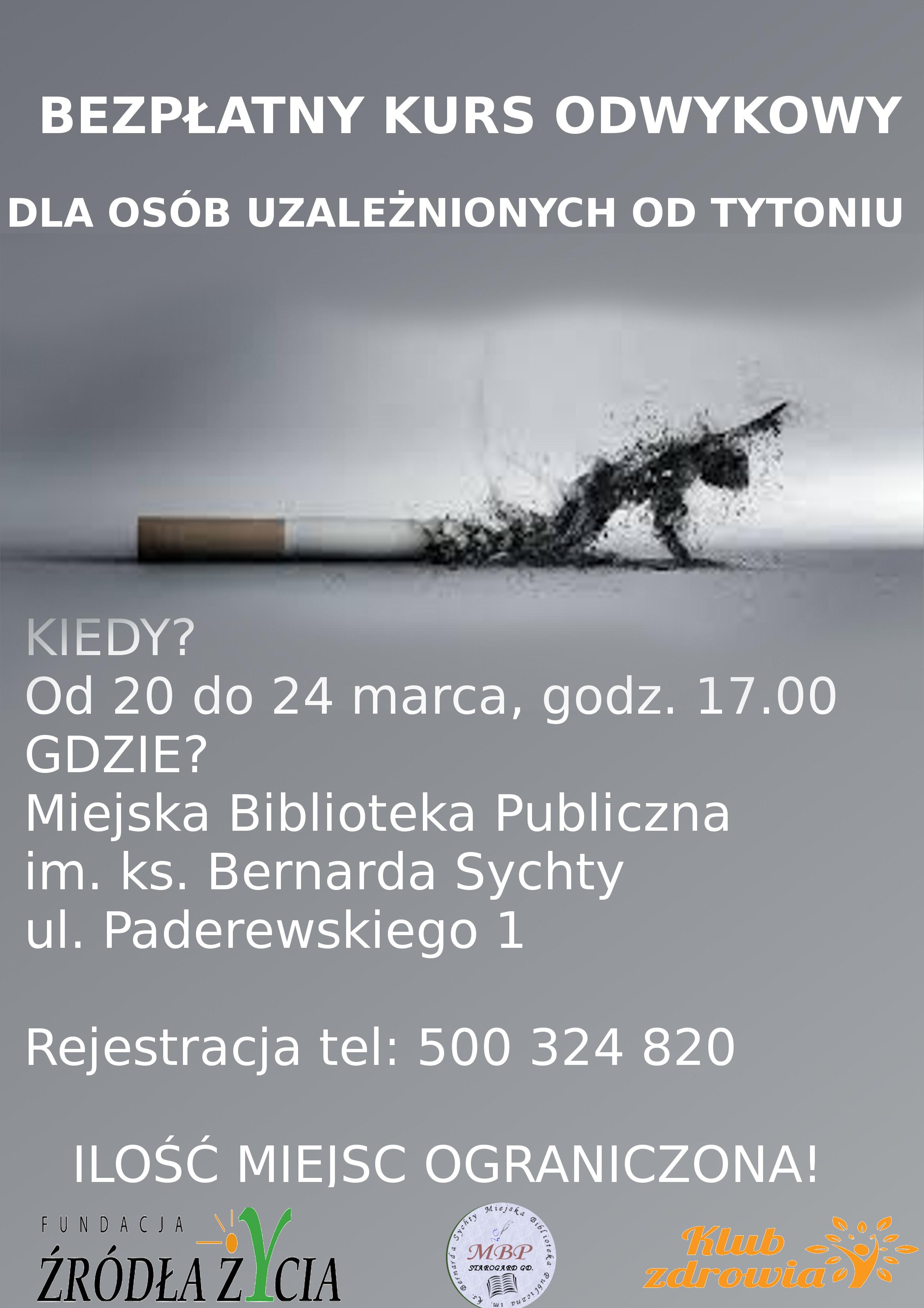 Bezpłatny kurs odwykowy dla osób uzależnionych od tytoniu