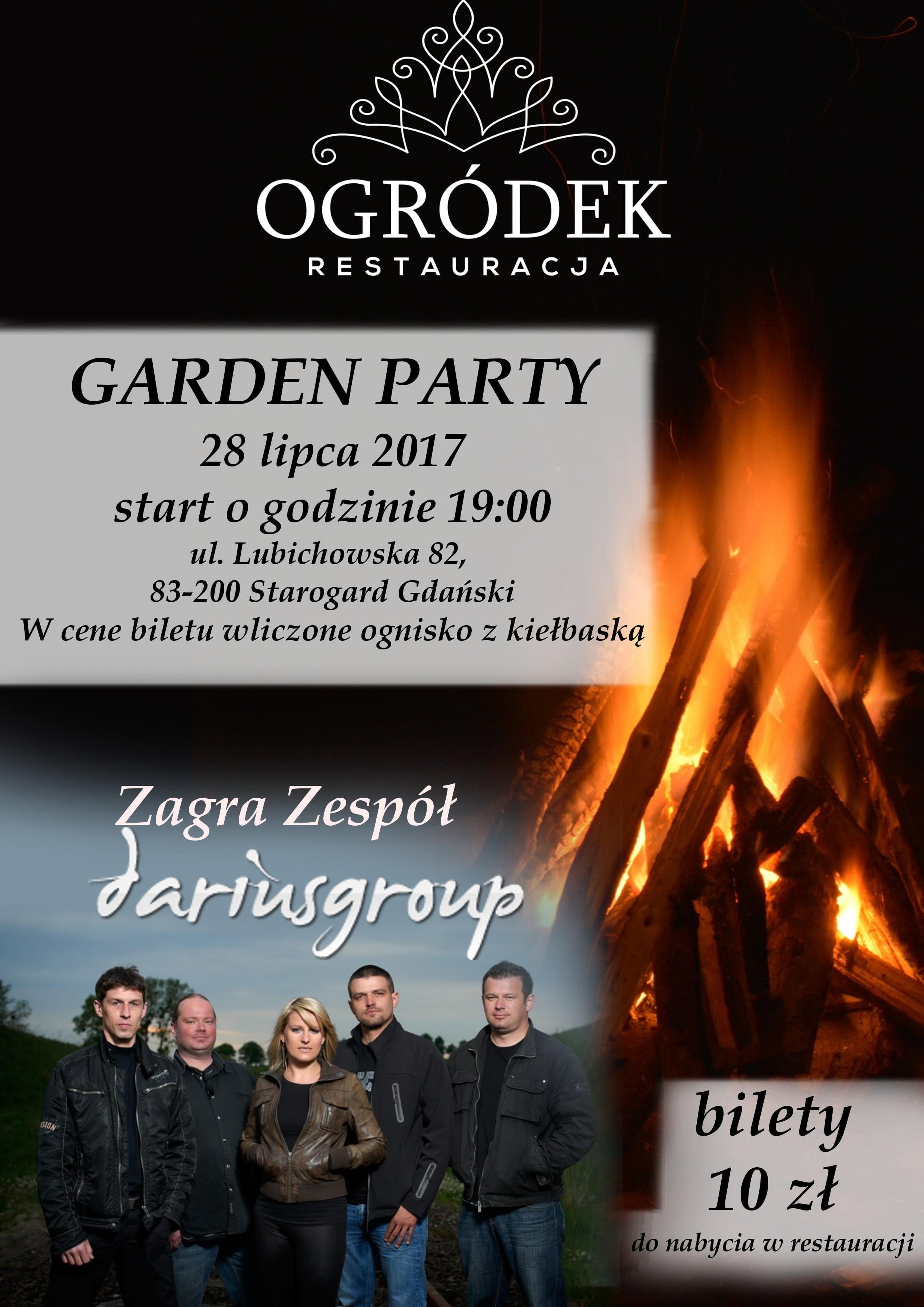 """Garden Party z Darius Group w Restauracji """"Ogródek"""" 28.07.2017"""