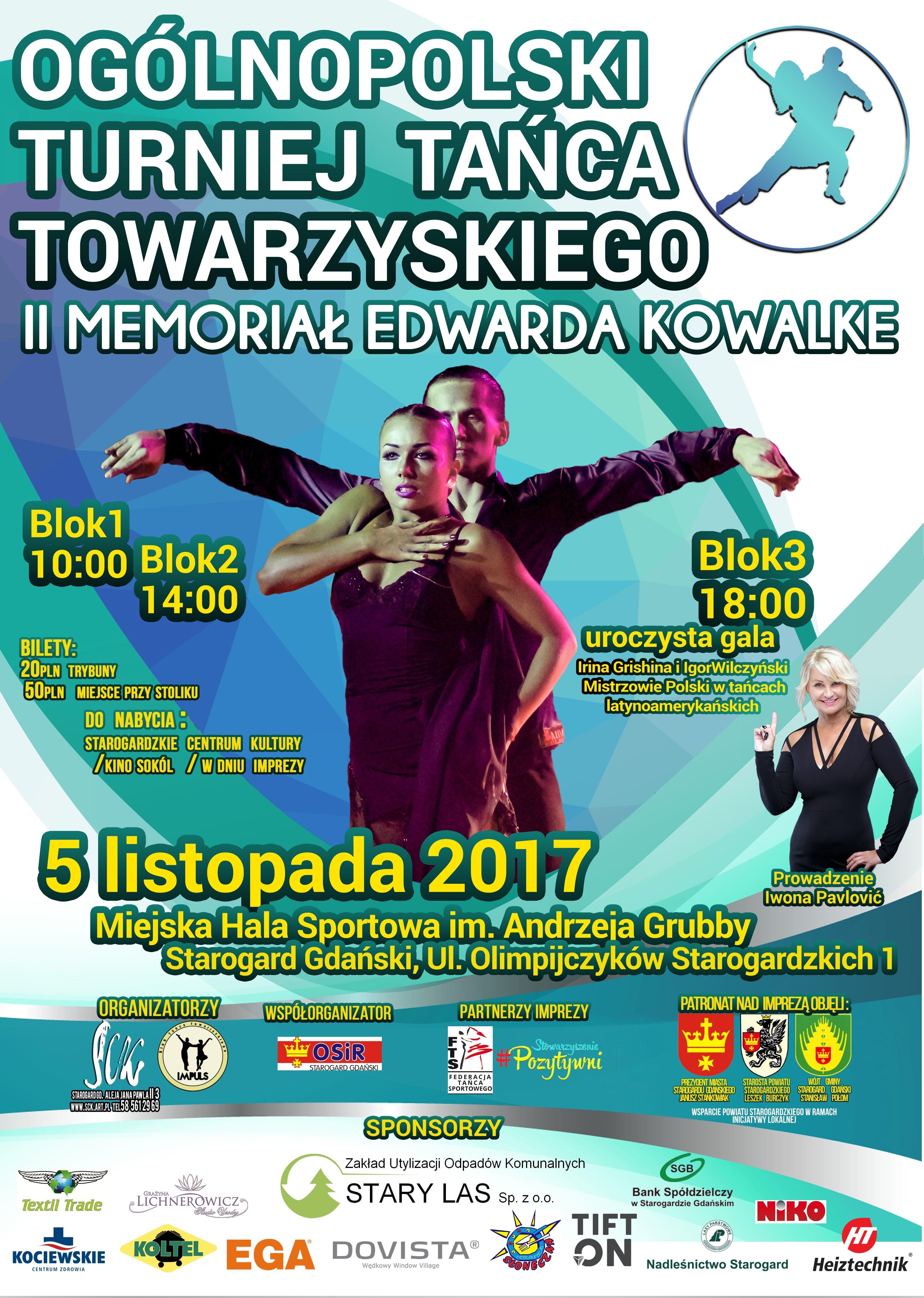 Ogólnopolski Turniej Tańca Towarzyskiego - II Memoriał Edwarda Kowalke