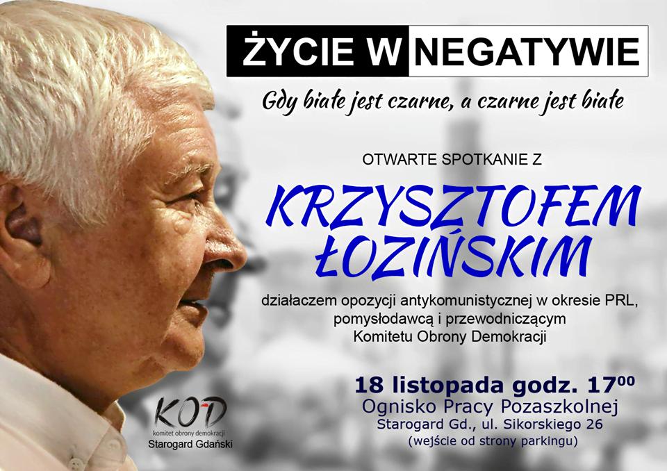 Spotkanie otwarte z Krzysztofem Łozińskim