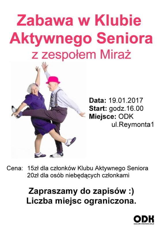 Zabawa taneczna Klubu Aktywnego Seniora