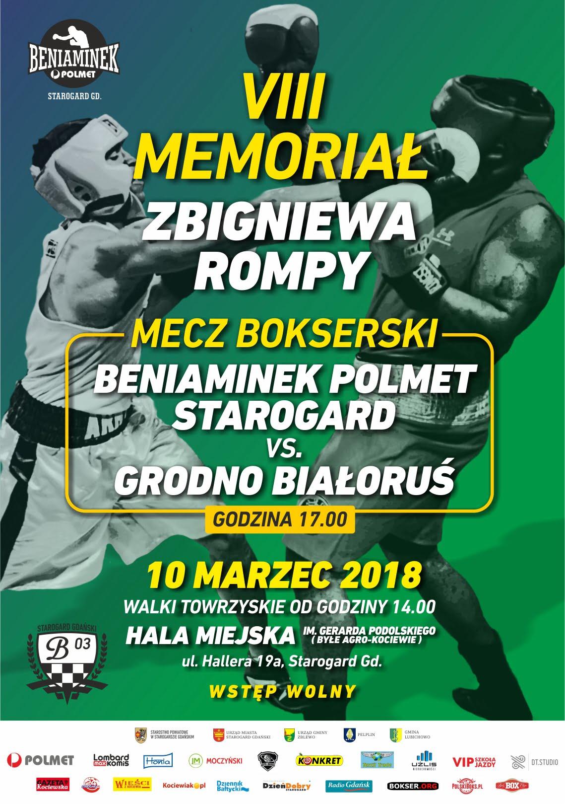 Turniej bokserski VIII Memoriał Zbigniewa Rompy