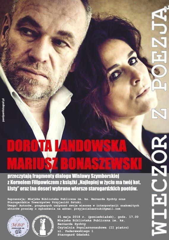 Wieczór z poezją - Dorota Landowska i Mariusz Bonaszewski
