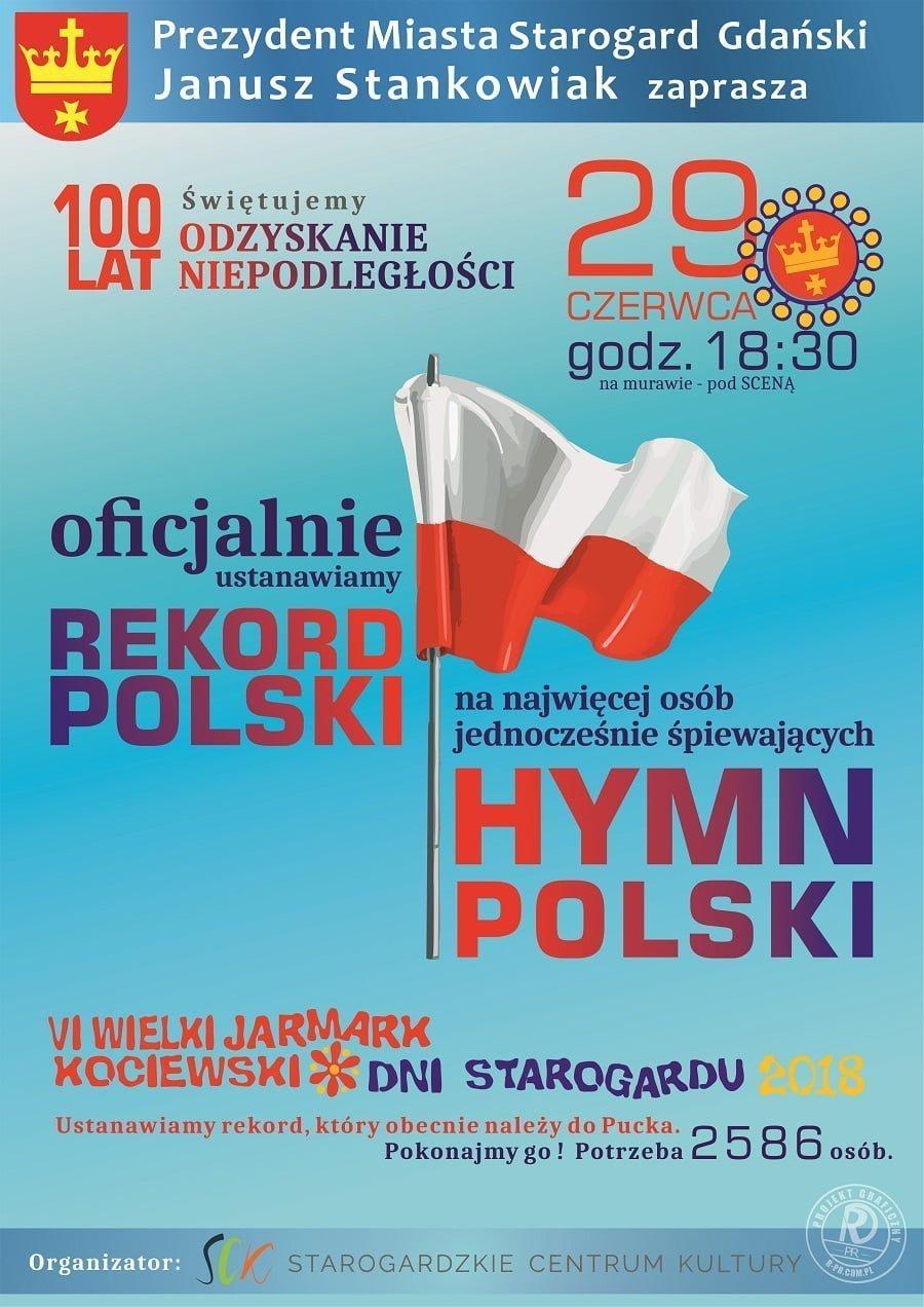 Bijemy rekord w śpiewaniu Hymnu Polski
