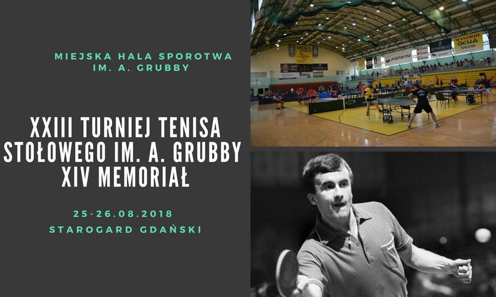 XXIII Turniej Tenisa Stołowego im. Andrzeja Grubby - XIV Memoriał