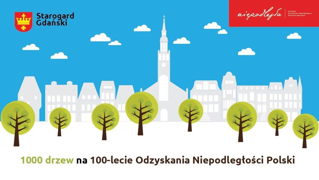 1000 drzew na 100-lecie Odzyskania Niepodległości Polski