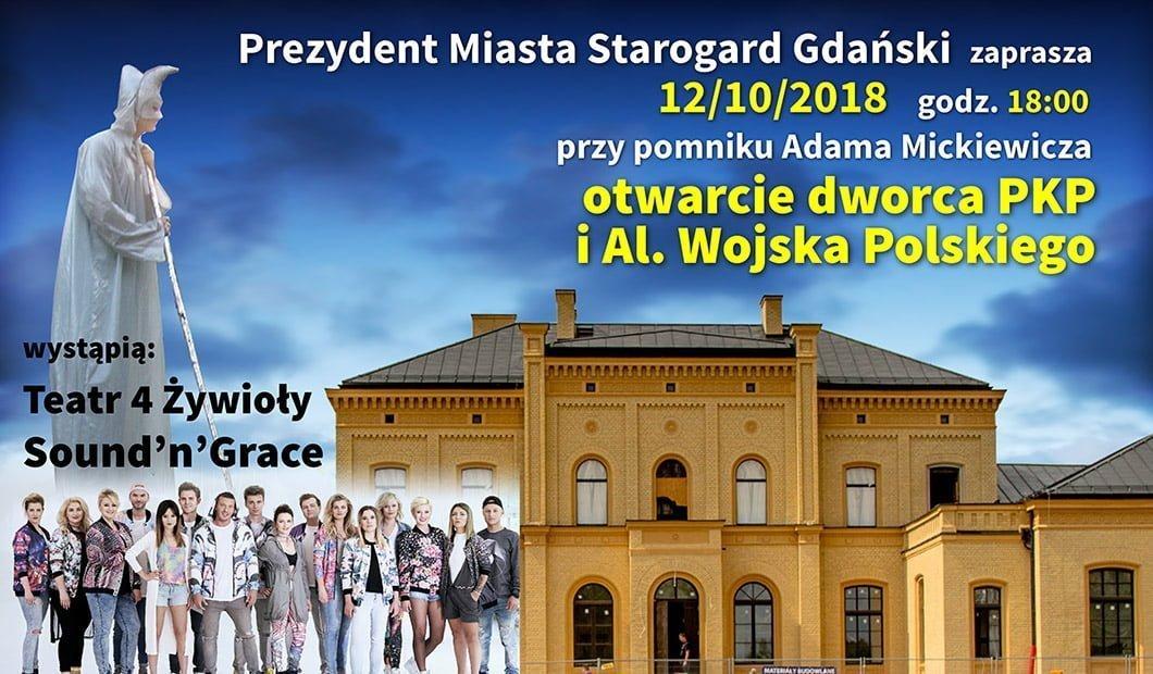 Otwarcie Dworca PKP i Alei Wojska Polskiego