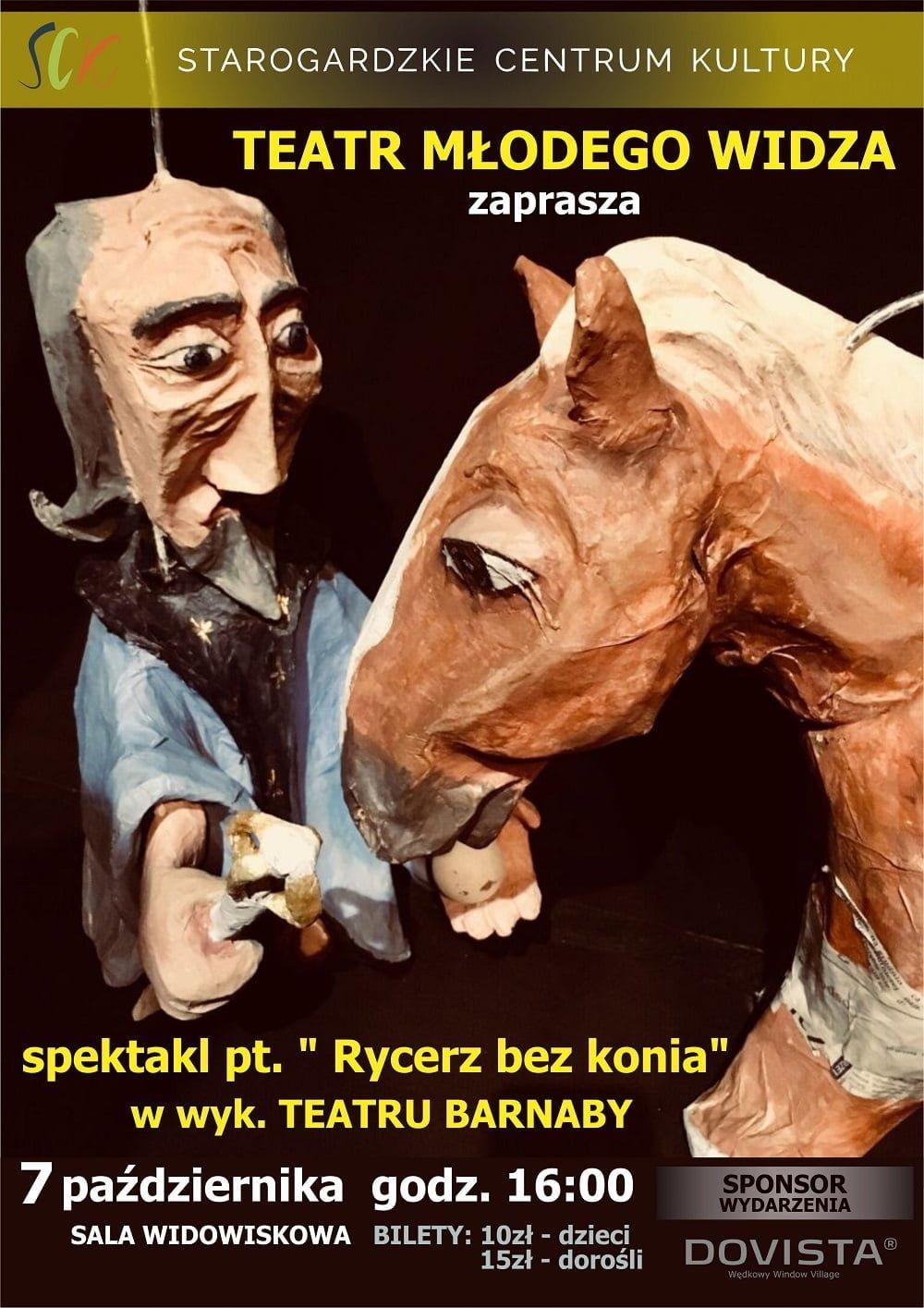 """Teatr Młodego Widza - spektakl """"Rycerz bez konia"""""""