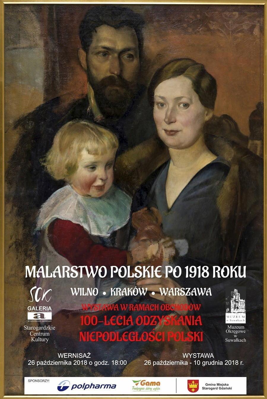 """SZTUKA POLSKA - Wystawa """"Malarstwo Polskie po 1918 r...."""" Wilno. Kraków. Warszawa."""