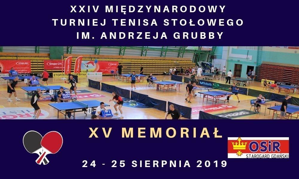 24. Turniej Tenisa Stołowego im. A. Grubby - 15. Memoriał