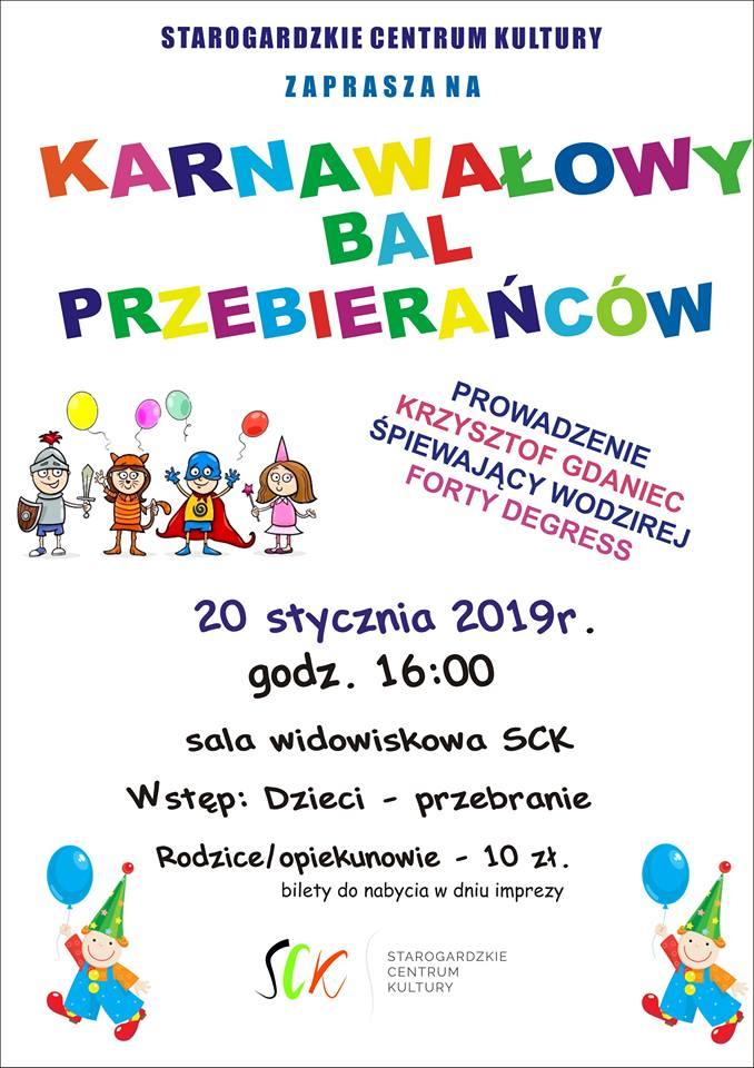 Karnawałowy Bal Przebierańców dla dzieci