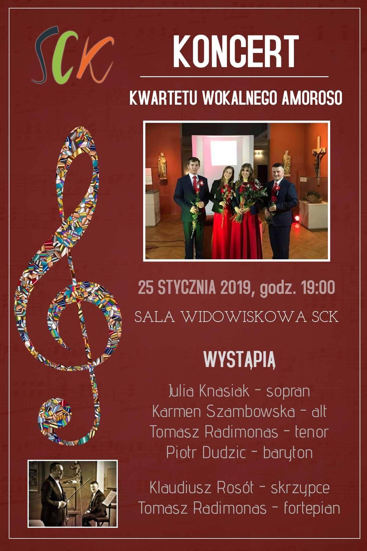 Koncert Kwartetu Wokalnego Amoroso