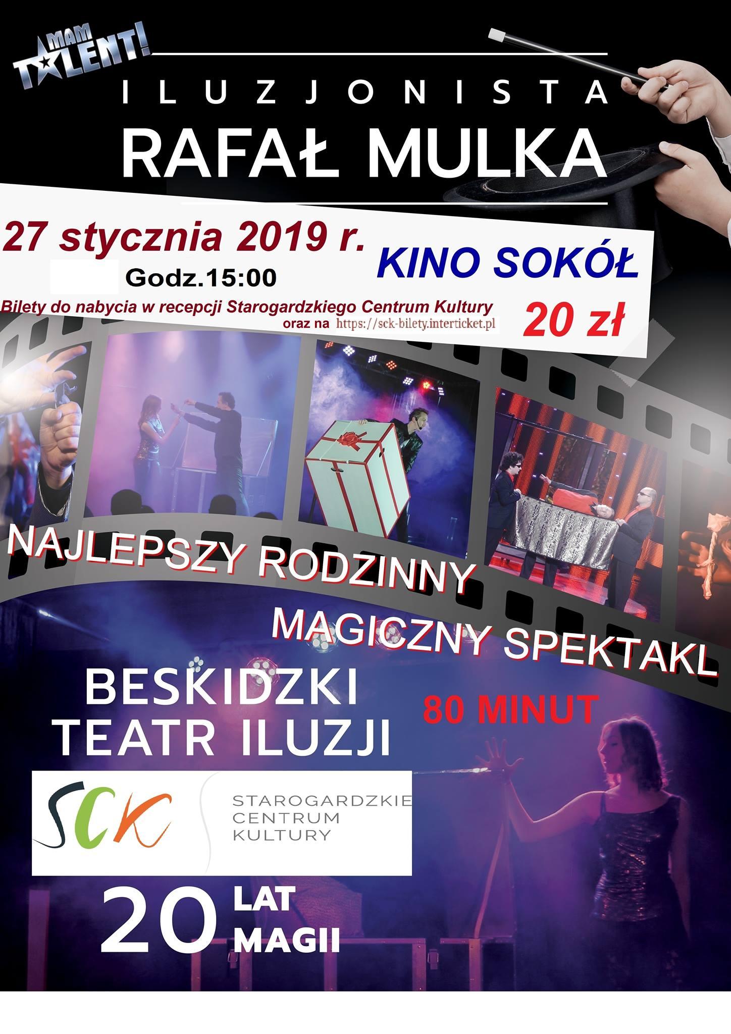 Magiczny Spektakl - Iluzjonista Rafał Mulka